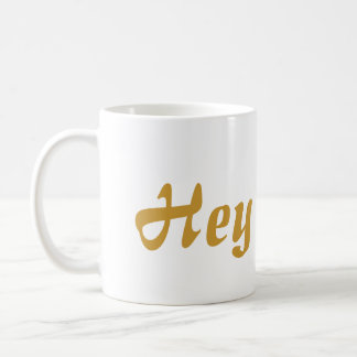 Hey Cutie Gold Lettering Coffee Mug