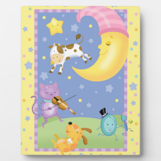 Hey Diddle Diddle Baby Art Easel Plaque