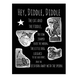 Hey Diddle Diddle Nursery Rhyme Postcard