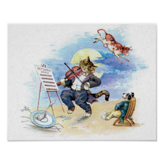 Hey, Diddle Diddle Nursery Rhyme Poster