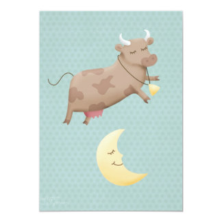 Hey diddle diddle, the cow jumped over the moon card