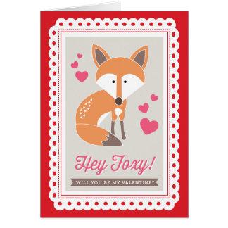 Hey Foxy! by Origami Prints Valentine Folded Card