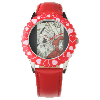 """""""Hey Girlie Girl"""" Red Sports Watch"""