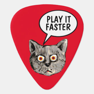 hey guitar-player... play it faster plectrum