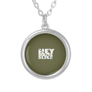 Hey Home Slice Round Pendant Necklace