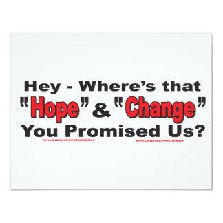 Hey---Hope-and-Change 11 Cm X 14 Cm Invitation Card