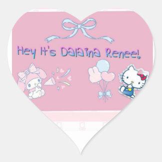 Hey It's Dalaina Renee! Heart Sticker