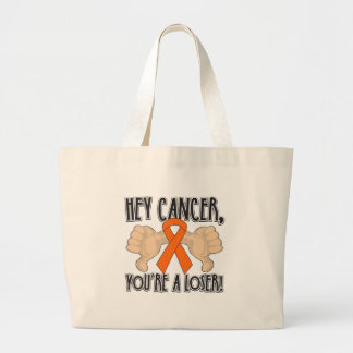 Hey Kidney Cancer You're a Loser Canvas Bag