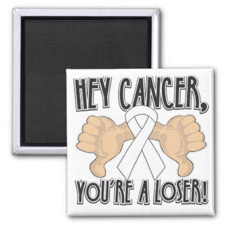 Hey Mesothelioma Cancer You're a Loser Refrigerator Magnet