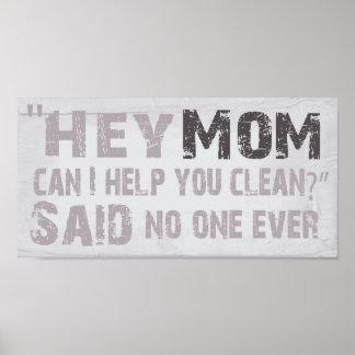 """Hey Mom"" Poster"