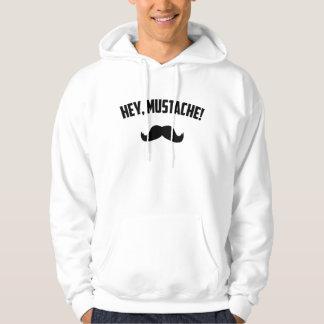 Hey Mustache Hoodie