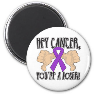 Hey Pancreatic Cancer You're a Loser Refrigerator Magnets