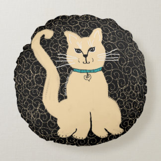 Hey Pretty Kitty Throw Pillow by Julie Everhart