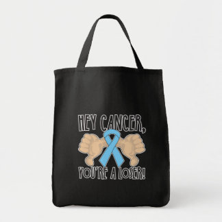 Hey Prostate Cancer You're a Loser Canvas Bags