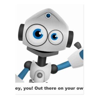 Hey robot you postcard