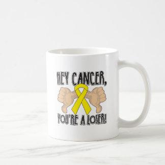 Hey Sarcoma Cancer You're a Loser Basic White Mug