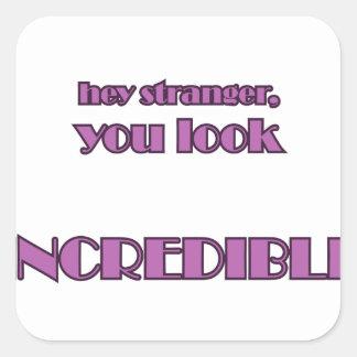 Hey Stranger Square Sticker