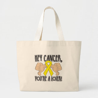 Hey Testicular Cancer You're a Loser Bags