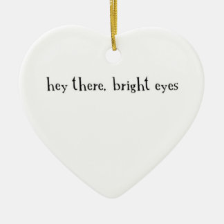 hey there, bright eyes ceramic heart decoration