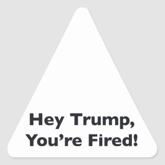 Hey Trump, You're Fired! Triangle Sticker