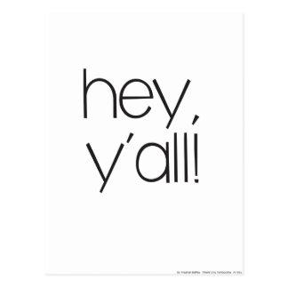 Hey Y'all! Postcard