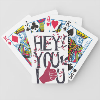 Hey you i LOVE YOU Bicycle Playing Cards