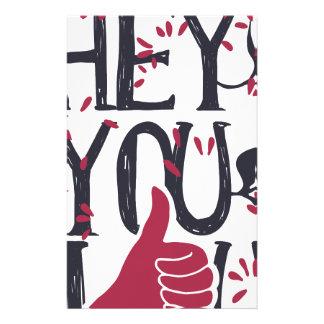 Hey you i LOVE YOU Stationery