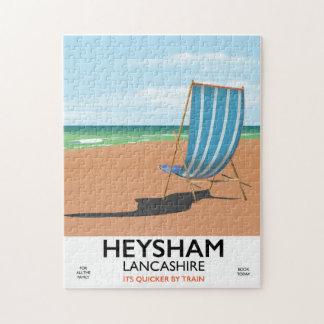 Heysham Lancashire vintage train poster Jigsaw Puzzle