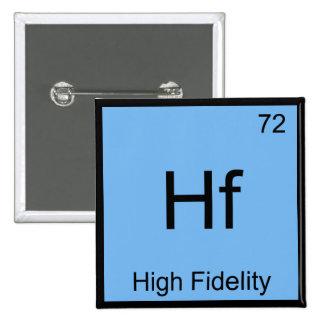 Hf - High Fidelity Chemistry Element Symbol Tee Pin