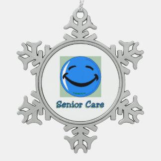 HF Senior Care Pewter Snowflake Decoration