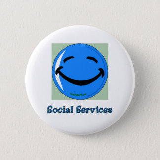 HF Social Services 6 Cm Round Badge