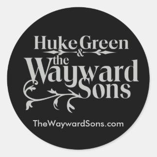 HG&WS logo black bigger back, TheWaywardSon... Classic Round Sticker