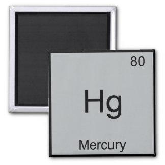 Hg - Mercury Funny Chemistry Element Symbol Tee Square Magnet