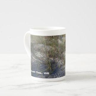 """HHI """"On Island Time"""" coffee mug (dune grass)"""
