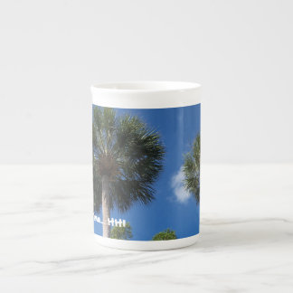 """HHI """"On Island Time"""" coffee mug (palm trees)"""