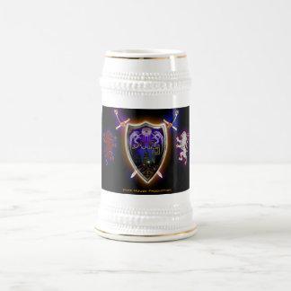 HHP-Hype House Shield logo stein Beer Steins
