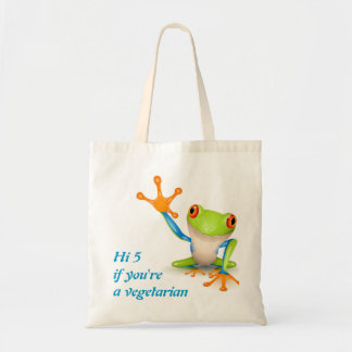 Hi5 frog for vegetarian bag