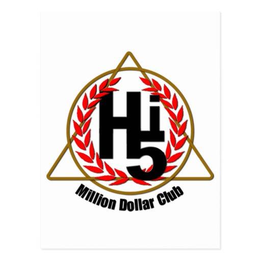 Hi 5 Million Dollar Club Post Card