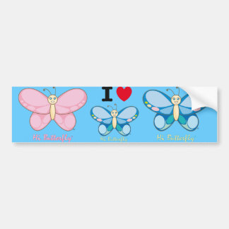 Hi Butterfly® Bumper Sticker