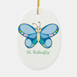Hi Butterfly® Ornament Ceramic Oval Ornament