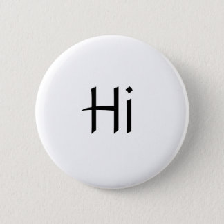 Hi Button Black and White simple
