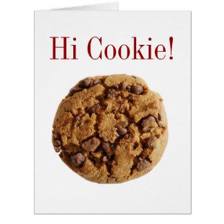 Hi Cookie BIG Greeting Card - SRF