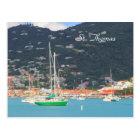 Hi def photography of St. Thomas, Boats Postcard