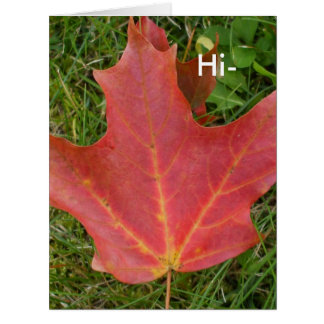 Hi-Fall Leaf Greeting Big Greeting Card