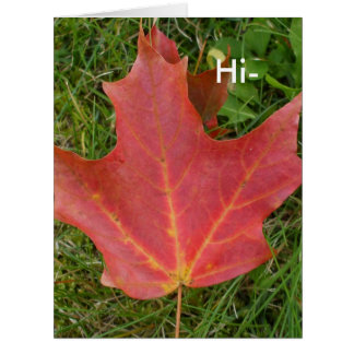 Hi-Fall Leaf Greeting Big Greeting Card
