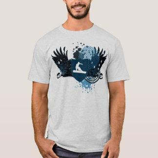 hi-fi snowboarding. traced in blue. T-Shirt