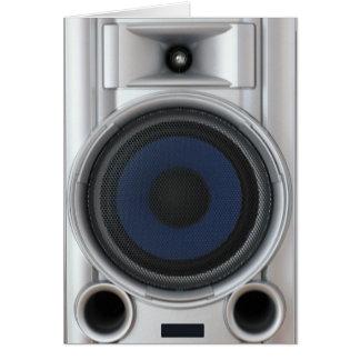 Hi-fi system Loudspeaker Greeting Card