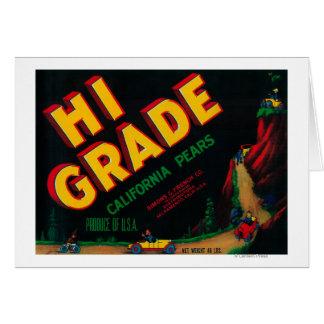 Hi Grade Pear Crate Label Greeting Card