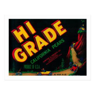Hi Grade Pear Crate Label Postcard