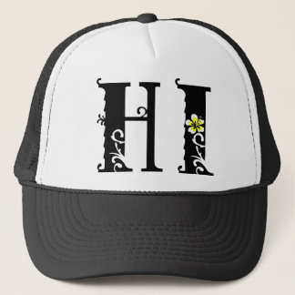 HI Hawaii hibiscus icon Trucker Hat